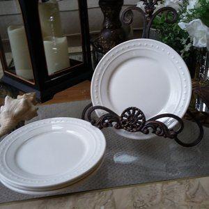 Set OF 4 FARMHOUSE Beaded DESSERT Plates By ELLE